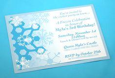 Frozen Party - Invitation