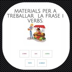 Materials per a treballar sintaxi i morfosintaxi Colegio Ideas, Cats Cast, Math Concepts, Lectures, Conte, Learn To Read, Legos, Valencia, Presents
