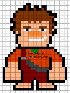 Pixel Art Templates: Wreck it Ralph