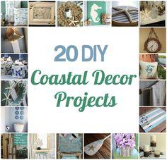 20 DIY Coastal Décor Projects @CraftBits & CraftGossip