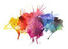 rainbow watercolor splatter - Google Search