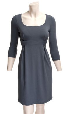 Empire waist dress. So flattering. Perfect with some bold accessories.
