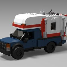 Bricklink is the world's largest online marketplace to buy and sell LEGO parts, Minifigs and sets, both new or used. Search the complete LEGO catalog & Create your own Bricklink store. Lego Camper, Truck Camper, Police Truck, Lego Police, Lego Military, Military Vehicles, Lego Hacks, Lego Fire, Lego Truck