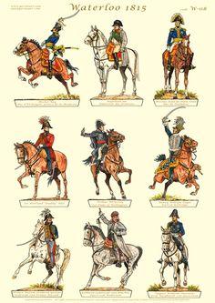 Gorini Art - Soldatini di Carta Waterloo 1815, Battle Of Waterloo, Bataille De Waterloo, Ww1 Art, Etat Major, Military Orders, Paper Toy, French Army, Napoleonic Wars