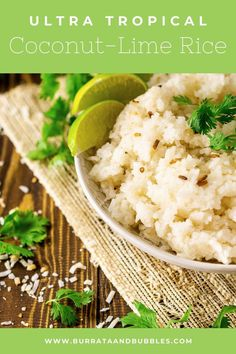 Meet the perfect easy summer side dish! This tropical coconut lime rice is loaded with summer's best flavors, and you truly won't find a more simple side dish for your summer grill out menu. #coconutlimerice #coconutrice #easysummersidedish #summersidedishesforacrowd #coconutricerecipeeasy Summer Side Dishes, Side Dishes Easy, Side Dish Recipes, Grilling Recipes, Beef Recipes, Easy Salads, Easy Meals, Lime Rice, Best Vegetarian Recipes
