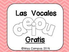 Las Vocales A, E, I, O, U (Freebie) - repaso de las vocales para sonidos iniciales