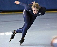 """Rebekah Bradford 7/16/2013. """"Picture from the first day on the ice at the Utah Olympic Oval. Thank you for the photo Jerry Search!"""" #sochi2014"""