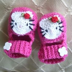 Hello Kitty Mary Janes Baby Shoes