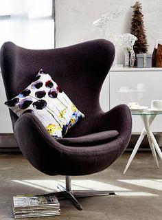 sillón egg ambientado