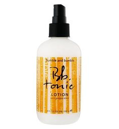 #Bumble and bumble Tonic Lotion 250ml 10145389 #72 Advantage card points. Bumble and bumble Tonic Lotion is a blend of herbs, vitamins Tea Tree Oil replaces moisture, soothes, detangles, enhances the performance of products and reminds us of old-school barbers FREE Delivery on orders over 45 GBP. (Barcode EAN=0685428005129)