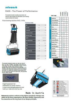 Rotowash R45S floor scrubber gravity sprayer, Carpet scrubber, cleaning machine