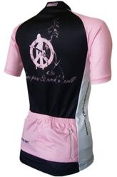 Funkier Pink Love Peace & Rock and Roll Women's Cycling Jersey