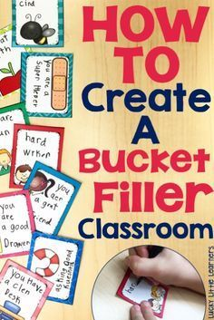 Create a bucket filler classroom and set up a positive and encouraging environment for your students to work hard, push themselves, and feel successful. This post provides activities, printables, and a book that will do just that!                                                                                                                                                     More