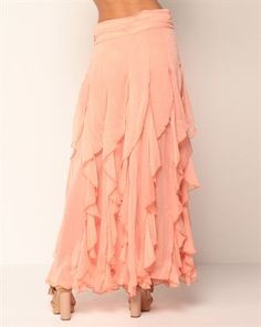 Miss Finch Tiered Ruffle Skirt Modest Dresses, Modest Outfits, Modest Fashion, Skirt Fashion, Stylish Outfits, Cute Outfits, Fashion Outfits, Womens Fashion, Apostolic Pentecostal