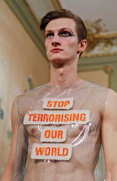 Walter Van Beirendonck makes anti-terror statement for AW15: http://www.dazeddigital.com/fashion/article/23326/1/walter-van-beirendonck-makes-anti-terror-statement-for-aw15