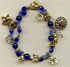IDEA: Celestial Bracelet of Blue and Gold (eebeads.com)