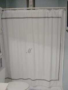 Add Ribbon To The Shower CurtainI Have This Same Curtain