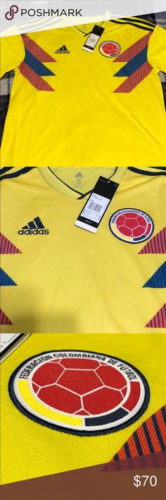 34b7b0597a0ef Adidas Colombia National Team Jersey Authentic Colombia national team  jersey! Never worn