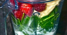 Simply Strawberry Green Smoothie - my new favorite meal replacement! I was looking for this recipe! Frozen Strawberries, Baby Spinach, Frozen Banana, Organic Baby, Almond Milk, 1 Cup, Google Images, Tatoos, Smoothie