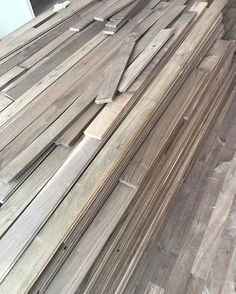 Our walnut has arrived for our wood flooring for our Neo-Georgian project. #moderntraditional #interiordesign #sitevisit #neogeorgian #DISCinteriors #LAhomes