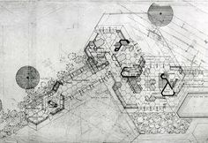 """""""Auldbrass"""" Plantation in Yemassee (SC). Architecture Drawings, Art And Architecture, Usonian House, Frank Lloyd Wright Buildings, Landscape Plans, Landscape Design, Architectural Section, Best House Plans, How To Plan"""