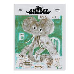 Volume 4, Issue 8 - August 2020 | The Smudge On The Issues, Fun Comics, Making Mistakes, Art Club, Smudging, Zine, Cover Art, Teddy Bear, Learning