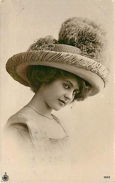 Edwardian era straw hat
