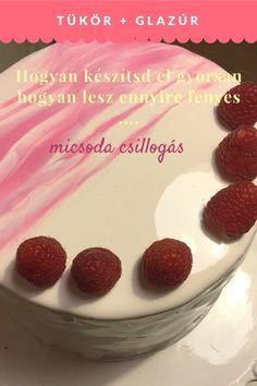 tukor-glazur Raspberry, Strawberry, Fondant Figures, Frosting Recipes, Cake Cookies, Fudge, Mousse, Cake Decorating, Bakery