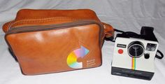 Vintage 70's Instant Poloroid Polaroid One Step White / Rainbow SX70 Land Camera