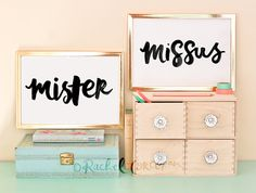Mr and Mrs - Mister and Missus - Typographic Print - Couple - Engagement - Anniversary Gift - Love Sign - Wedding Gift - Romantic