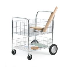 Model SW152Y #Chrome #Plated #Wire #Trolley #Removable centre shelf for bulky loads #Hygienic - easy to clean #Mobile on two large fixed 200mm wheels and two swivel braked 125mm castors Load capacity: 120kg See more at: http://shop.hsil.co.uk/p-3438-chrome-plated-wire-trolley.aspx#sthash.YPvucfAw.dpuf