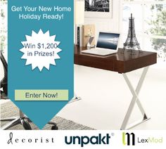 Get Your New Home Holiday Ready from Unpakt, LexingtonModern & Decorist! Enter the #giveaway here: