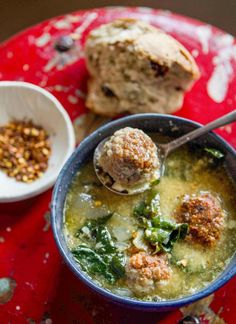 When it comes to soups, I can easily say I have a hands-down favorite: Italian Wedding Soup. My experience of it is neither particularly Italian, nor is it matrimonial, rather it was one of the first real meals my mother fed me when I was a baby. The legend is that I'd slurp it loudly, humming, and the broth would dribble down my neck, soaking the neck of my shirt.