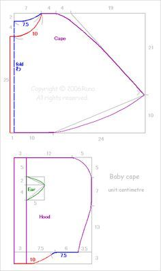 capelet patterns sewing | Drawing and cutting