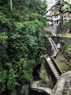 Entrance to Orrido di Bellano gorge, Lombardia / Italy (by...