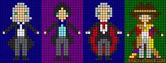 Doctor Who doctors perler bead pattern