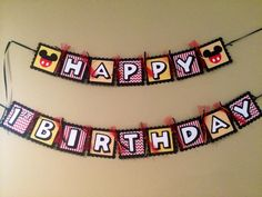 Mickey Mouse Birthday Banner, $26.50