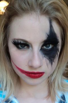 7 Harley Quinn Makeup Tutorials That Are Seriously Badass - Seventeen.com More