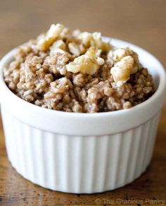 Clean Eating Recipes | Clean Eating Gingerbread Oatmeal