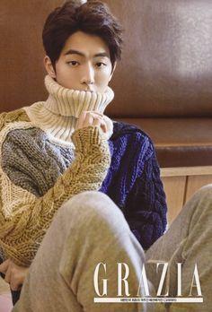 Nam Joo Hyuk Gets Soft and Gentle for Grazia