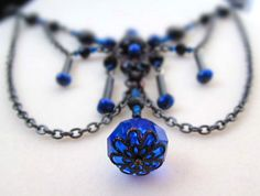 Enchanted blue necklace... Handmade jewelry