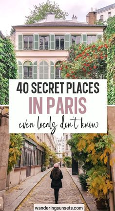 The 40 Secret Places in Paris even Locals Don't Know. bucket list. I included my favorite secret spots in Paris even locals don't know about. Explore hidden passages, tiny streets covered in vines and blooming flowers, pretty parks and more... | Hidden Gems in Paris | Paris Hidden Gems | Pretty Places in Paris | Secret Places in Paris | Underrated Places in Paris | Unique things to do in Paris |