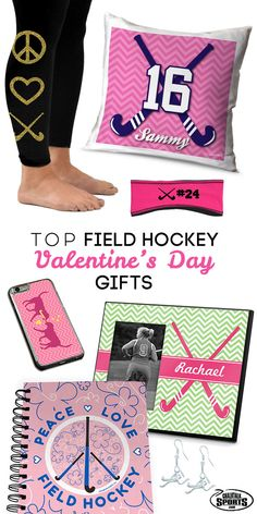 Valentine's Day is right around the corner and we've got you covered!  Shop our collection of field hockey Valentine's Day Gifts to find the most special present for the important field hockey girl in your life!  Our assortment of pink, gold glitter, and heart designed products are sure to put a smile on her face!  Exclusively from chalktalksports.com!