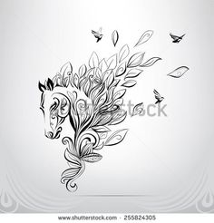 Find Elegant horse done in a minimal style Stock Images in HD and millions of other royalty-free stock photos, illustrations, and vectors in the Shutterstock collection. Tribal Horse Tattoo, Horse Tattoo Design, Tattoo Designs, Horse Drawings, Animal Drawings, Art Drawings, Unicorn Tattoos, Animal Tattoos, Horse Tattoos