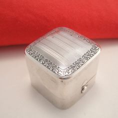 Antique Sterling Silver Ring Box from cachetantiques on Ruby Lane