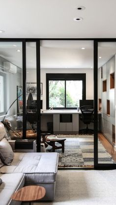 home decor modern Loft, Steel Doors And Windows, Feminine Decor, Indian Interiors, Dream Apartment, Office Interior Design, Home Decor Styles, Home Living Room, Interior Architecture