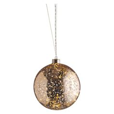 COSMIC Gold glass battery-operated 15 LED bauble