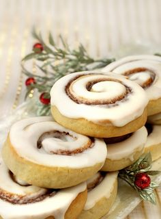 Cinnamon Bun Cookies, finalist in the Star Tribune Holiday Baking Contest Holiday Cookie Recipes, Holiday Cookies, Holiday Baking, Christmas Baking, My Recipes, Baking Recipes, Dessert Recipes, Cream Cheese Cookies, Cookies And Cream