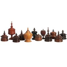 Collection of Dutch Tabacco Jars, 19th century | From a unique collection of antique and modern tobacco accessories at http://www.1stdibs.com/furniture/more-furniture-collectibles/tobacco-accessories/