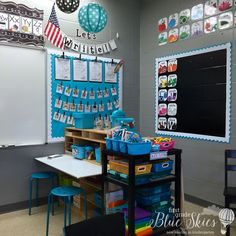 I love this writing corner from First Grade Blue Skies.